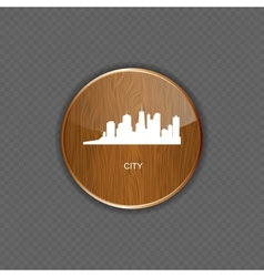 City wood application icons vector