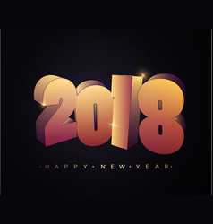 2018 happy new year happy new year banner with vector image vector image