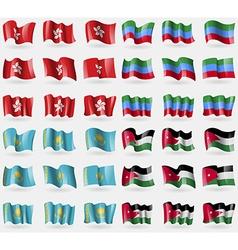 Hong kong dagestan kazakhstan jordan set of 36 vector