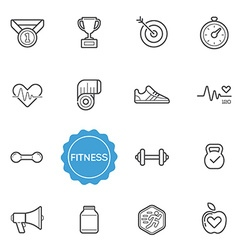 Set of fitness elements can be used as logo or vector