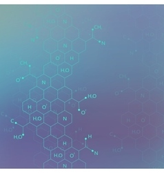 Dna molecule structure on blue background for your vector
