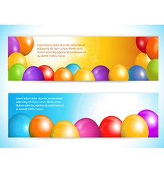 Balloon banners and sky vector