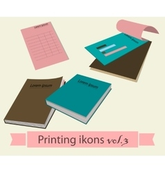 Print icons set3 vector