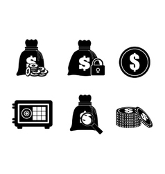 Money icon value concept flat vector