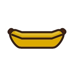 Pixel banana icon healthy food design vector