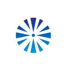 abstract circle arrow business technology logo vector image vector image
