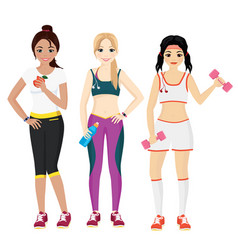 attractive young women in vector image vector image