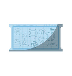 board with geometric figure vector image