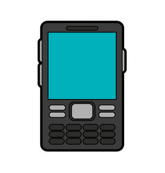 cellphone with buttons icon image vector image