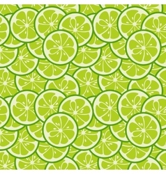 Cute seamless pattern with green lime slices vector image vector image