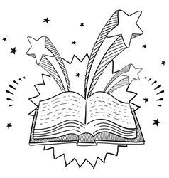 doodle pop book vector image