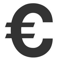 Euro symbol flat icon vector