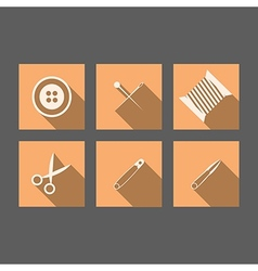 Flat icons for handmade vector image