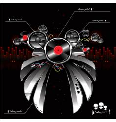 futuristic sound system vector image vector image
