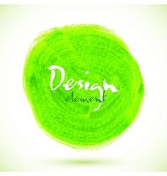 Green acrylic paint circle vector