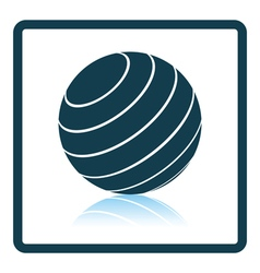 Icon of fitness rubber ball vector