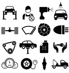 Icons of cars vector image vector image
