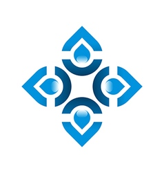 Logo pure water drop symbol icon liquid vector