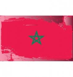 Morocco national flag vector image