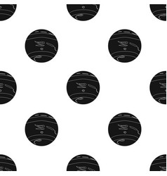 Neptune icon in black style isolated on white vector