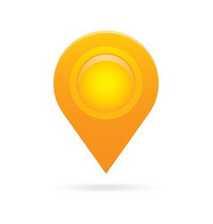 Orange map pointer icon marker gps location flag vector