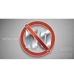 prohibition sign red vector image vector image