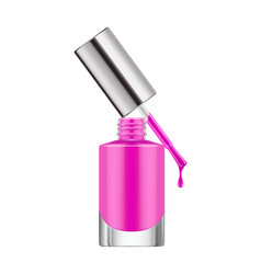 realistic nail polish bottle vector image vector image