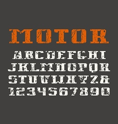 Serif font and numerals vector