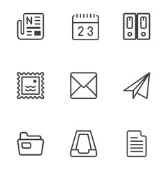 Set of web icons vector
