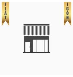 shop flat icon vector image vector image