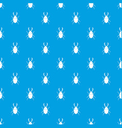 Stag beetle pattern seamless blue vector