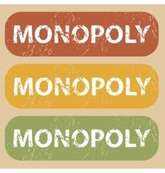 Vintage monopoly stamp set vector