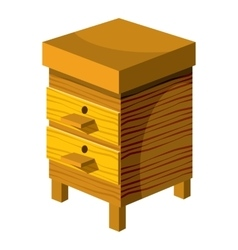 Beehive icon cartoon style vector