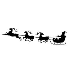 Santa deer3 vector