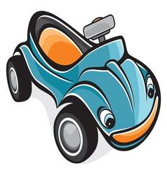 Cute race car vector