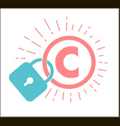 Concept of protection of copyright vector
