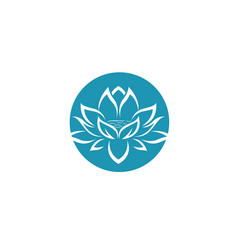 Beauty lotus flowers design logo template vector