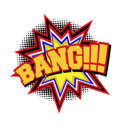 Bang comic text sound effect vector