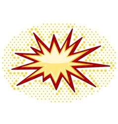 Bursting icon vector