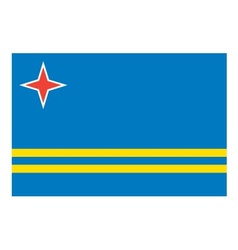 Aruba flag vector