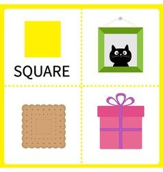 Learning square form Frame picture gift box vector image