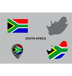 Map of south africa and symbol vector