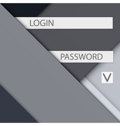 Background for access and login modern material vector