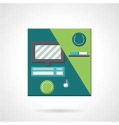 Workplace flat color icon vector
