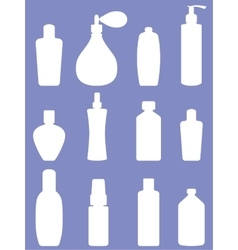 Bottle collection - silhouette vector