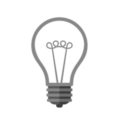 Bulb icon on white background vector
