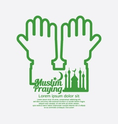Muslim praying concept design vector
