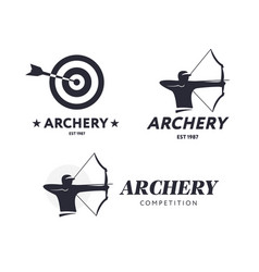 Abstract archery logo badge concept vector