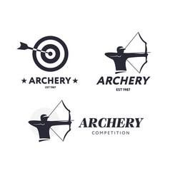 abstract archery logo badge concept vector image vector image