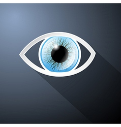 Abstract Paper Blue Eye on Dark Blue Background vector image vector image